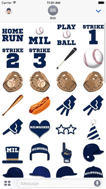 Milwaukee Baseball Stickers & Emojis screenshot-3