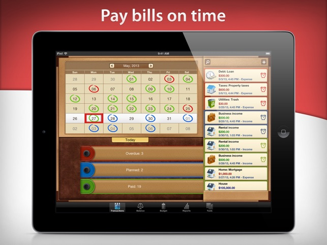 Money for iPad Screenshot