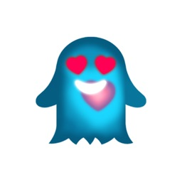 Cute Heart Glowing Ghost Stickers stickers