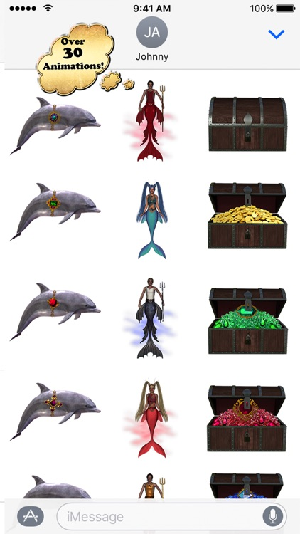 Where's the Dolphin Sticker Pack for iMessage screenshot-3