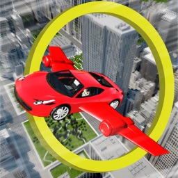 Fly Car in City