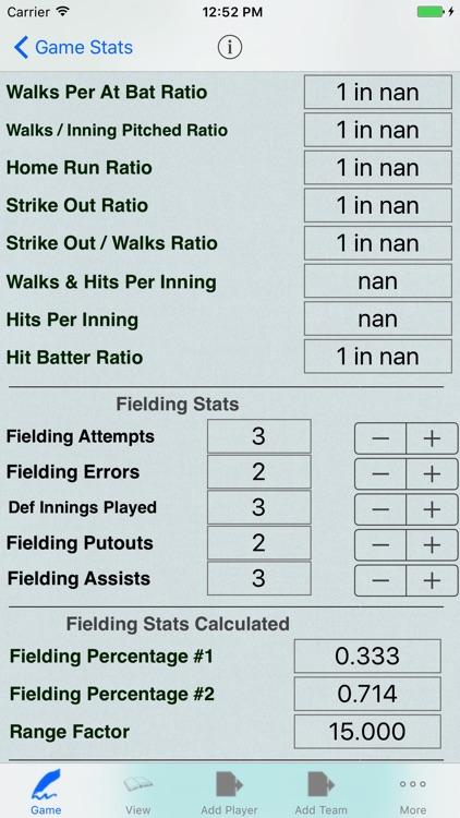 Baseball Player Stats Tracker for Game Statistics screenshot-3