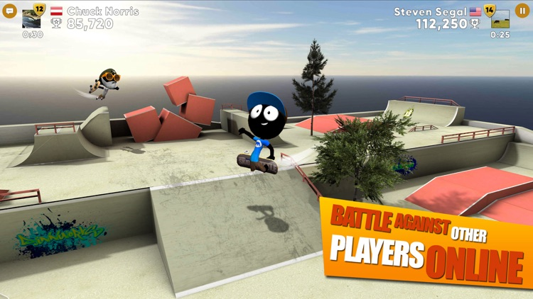 Stickman Skate Battle screenshot-0