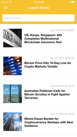 CoinDesk - Bitcoin Price & News Screenshot