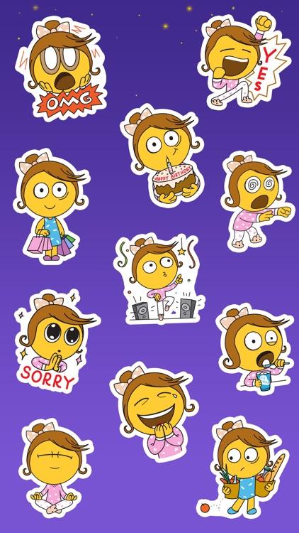 Sleepless Girl Stickers