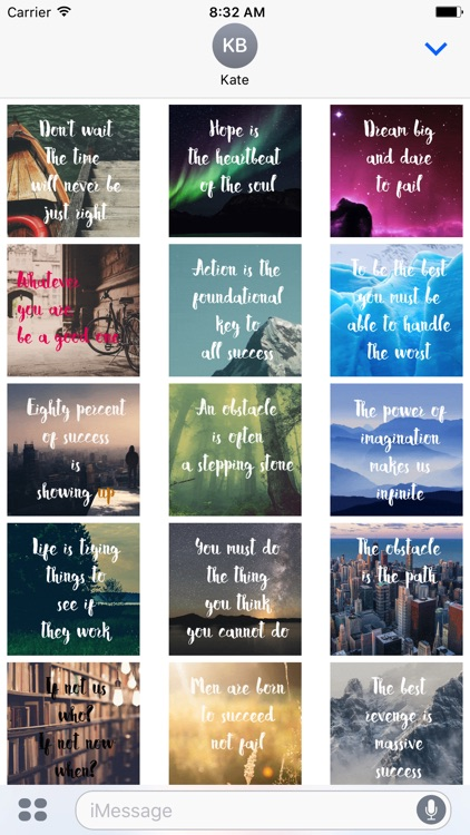 Animated Inspirational Quote Stickers