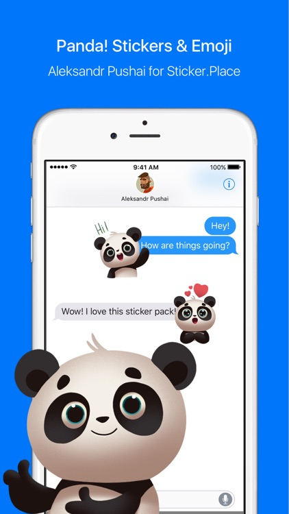 Panda! Stickers & Emoji screenshot-0