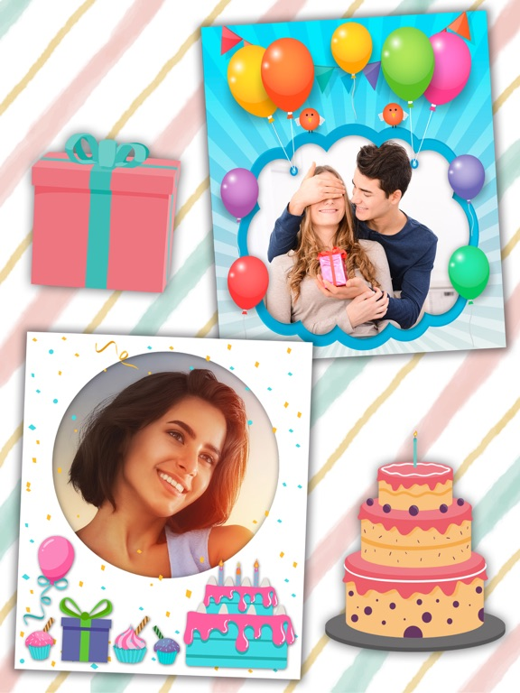Screenshot 2 For Birthday Photo Frames And Stickers Editor