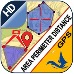 Area Distance Perimeter Measurement for Map on GPS
