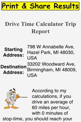 Drive Time Calculator - náhled