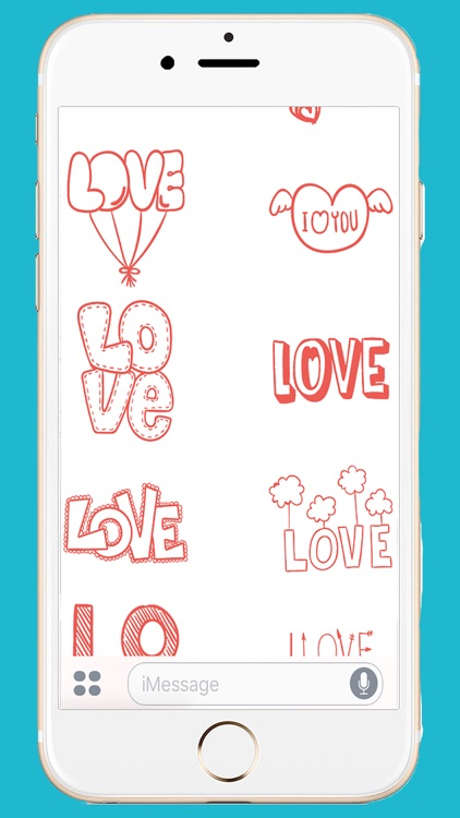 Hand Drawn: Love Sticker Pack
