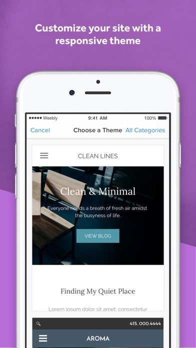 Weebly app image