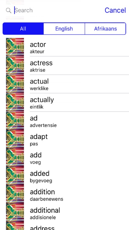 Afrikaans Dictionary GoldEdition