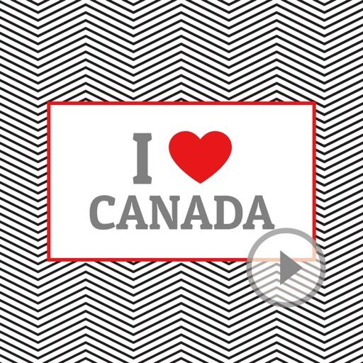 Animated I Love Canada Stickers