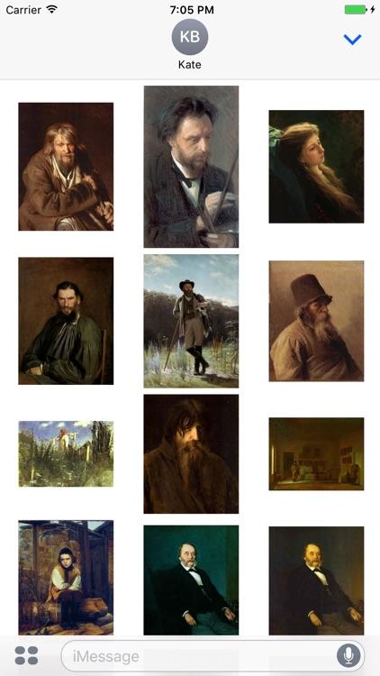 Ivan Kramskoy Artworks Stickers