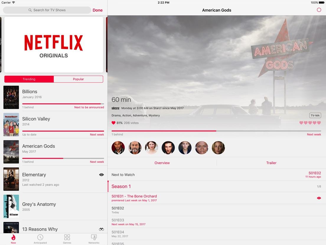 SERIST - TV Show Tracker - App voor iPhone, iPad en iPod