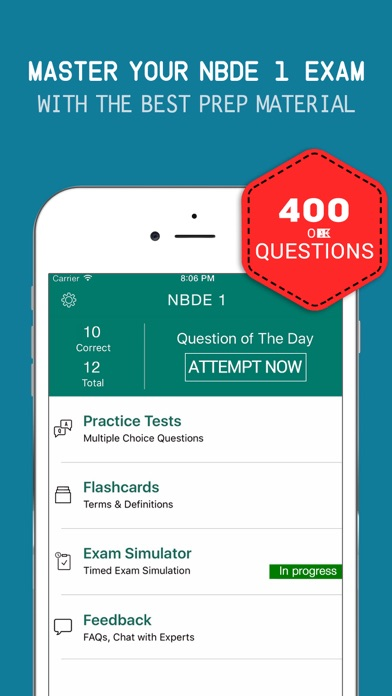 Dental Board Test Prep - NBDE 1 Practice Exam Q&A Screenshot on iOS