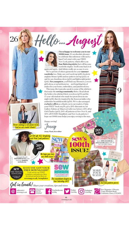 Sew Magazine – your complete guide to sewing, stitching and embroidery screenshot-1