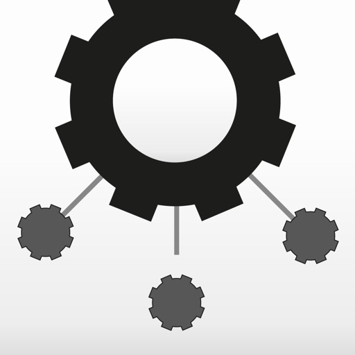 Cogwheels BW : black & white rotating gear wheel