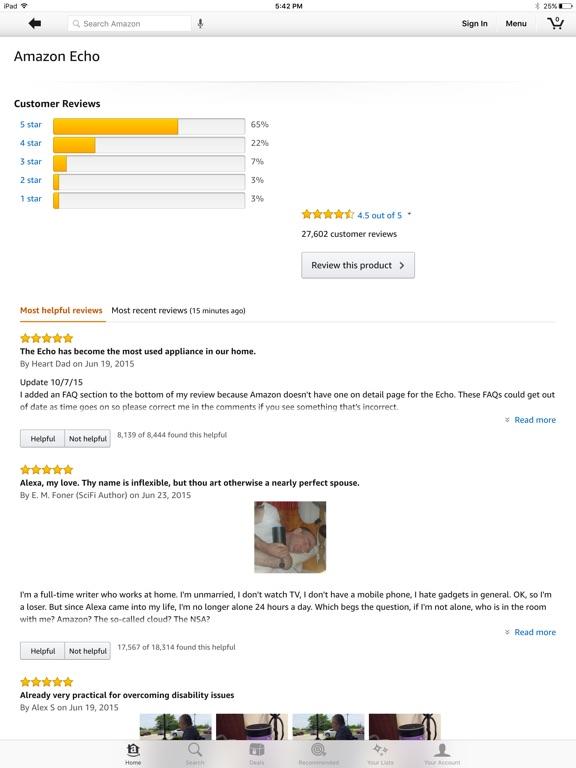 Amazon - Shopping made easy iPad