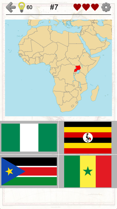 African Countries - Flags and Map of Africa Quiz
