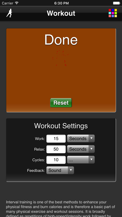 Workout screenshot three