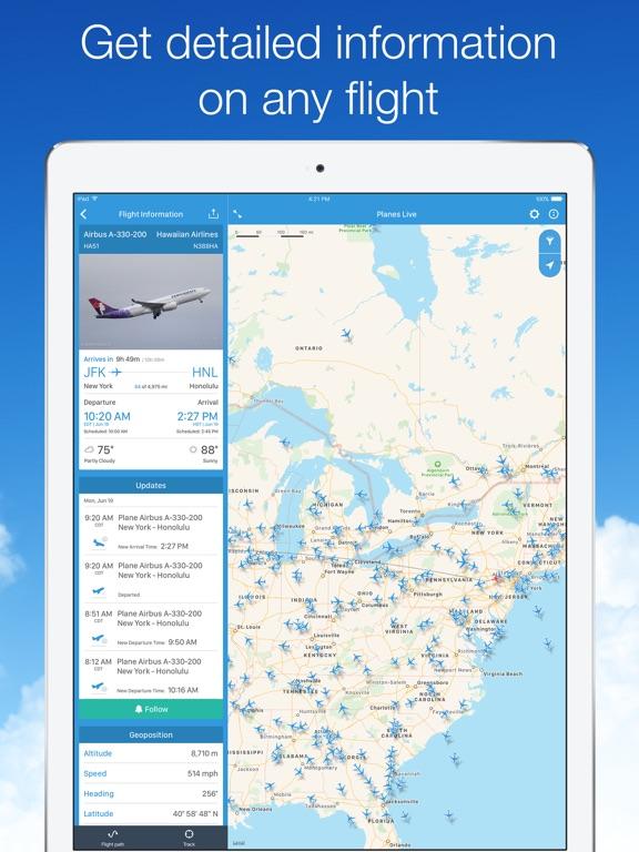 Planes Live: Flight Tracker Screenshots