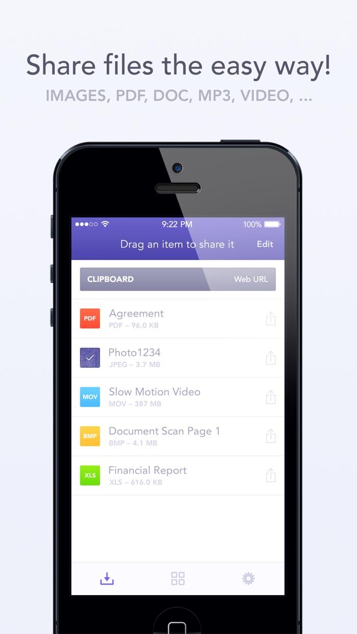 Instashare Air Drop - Transfer files the easy way Screenshot