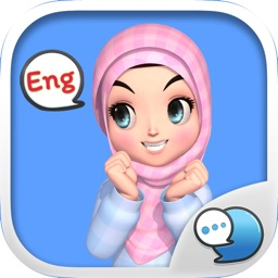 Amarena Hijabgirl ENG Stickers for iMessage