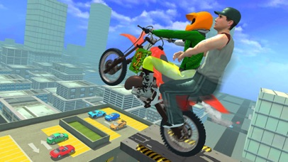 Xtreme Rooftop Bmx Bike Rider screenshot two