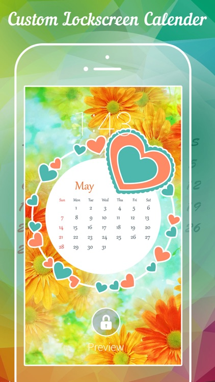 Lock Screen Calendar - Fancy Lockscreen Calendar