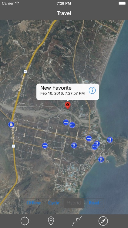 RHODES (GREECE) ISLAND – Travel Map Navigator screenshot-2
