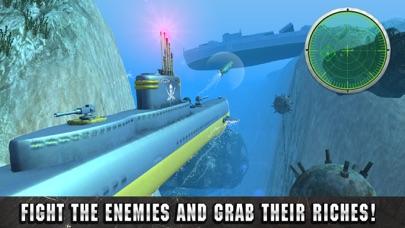 Underwater Pirate Submarine Simulator 3D screenshot three