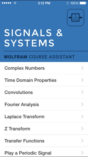 Wolfram Signals Systems Course Assistant On The App Store