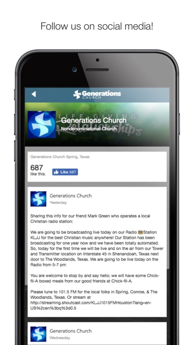 Image of Generations Church Spring for iPhone