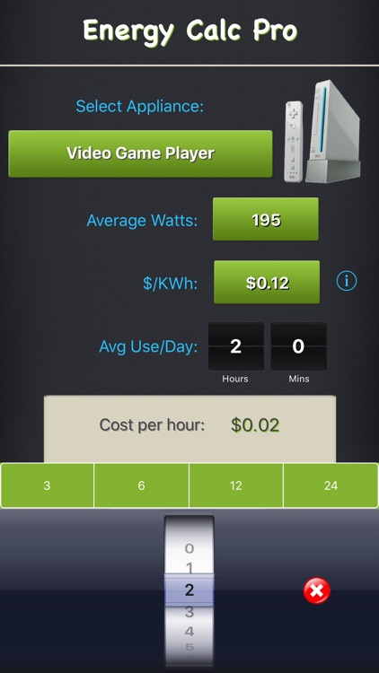 Energy Calc Pro - Appliance Energy Cost Calculator screenshot-3