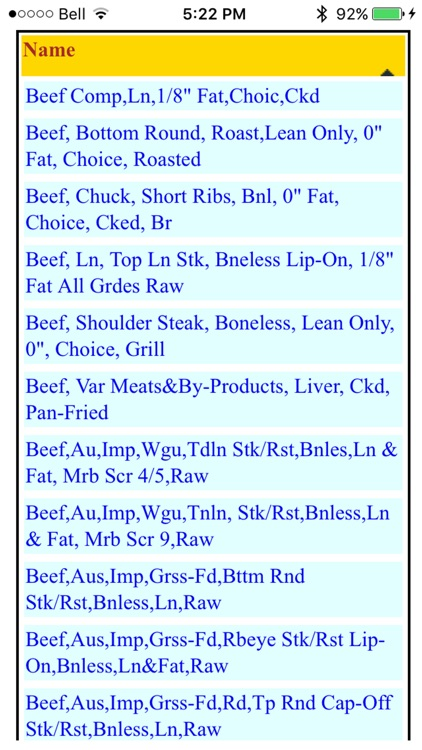 Food Nutrition Database screenshot-4