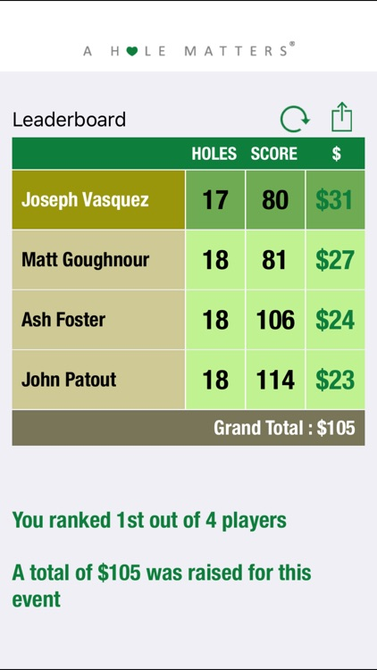 A HOLE MATTERS Fundraising with Golf GPS screenshot-3