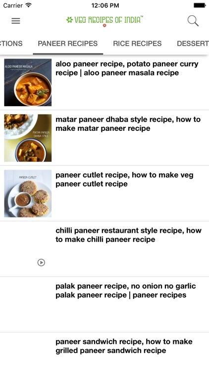 veg recipes of india screenshot-3