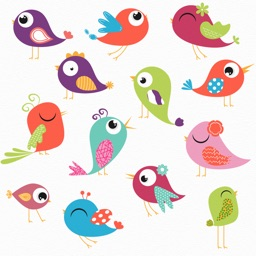 Colored Birds Stickers