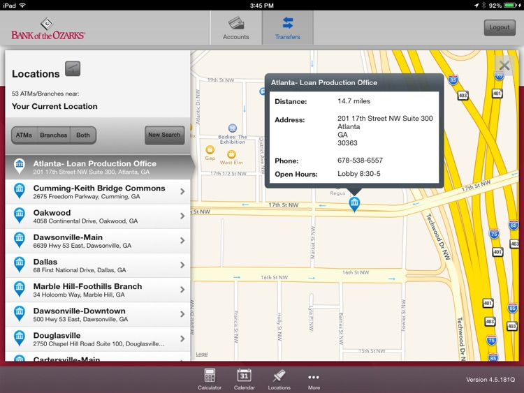 Bank of the Ozarks Mobile for iPad screenshot-4