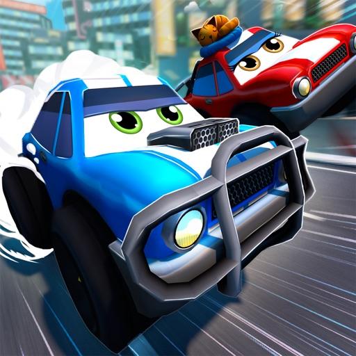 Cartoon Cars: Гоночный Тачки Скорость