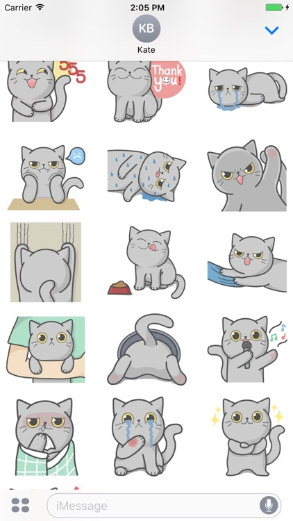 Full Moon Cat! Stickers