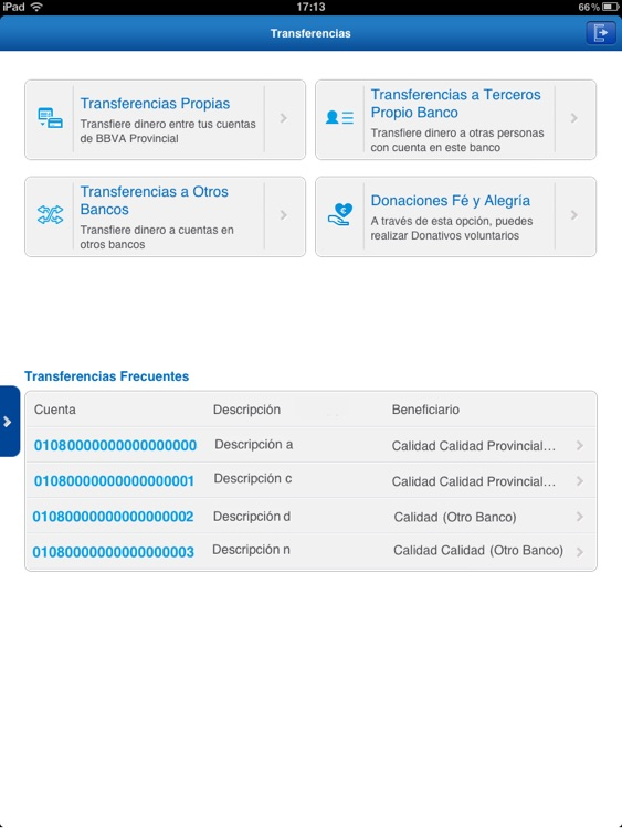 BBVA Provinet Móvil | Venezuela para iPad screenshot-4