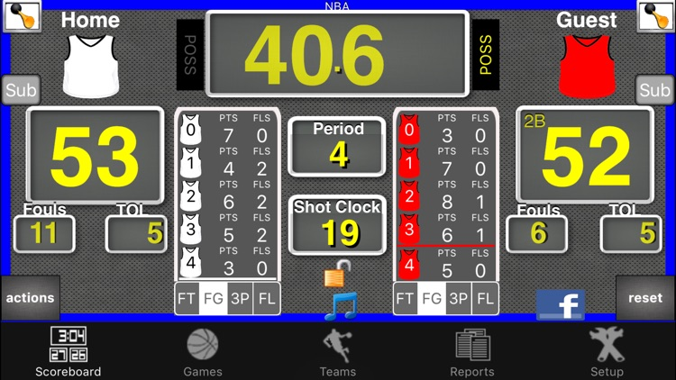 Ballers Basketball Scoreboard screenshot-1