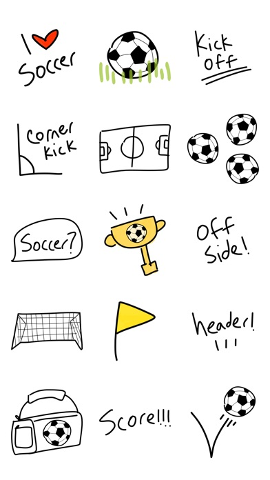soccer pic emoji  u0026 keyboard stickers for imessage app
