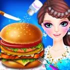 Cooking Hamburger Girl Makeup icon