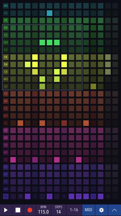 Xynthesizr: 32-step matrix sequencer/synthesizer