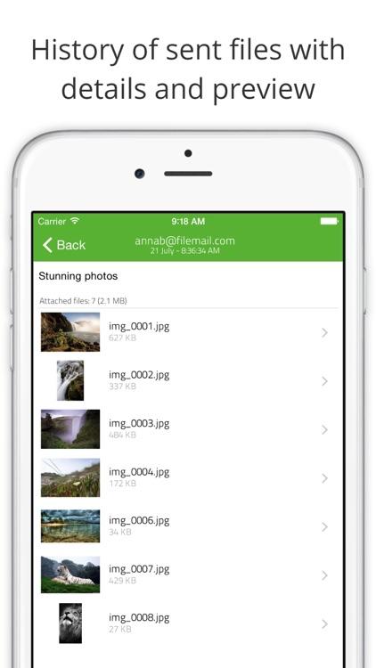 Filemail: Send large files screenshot-3