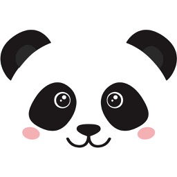 Cute Panda Love Sticker Pack
